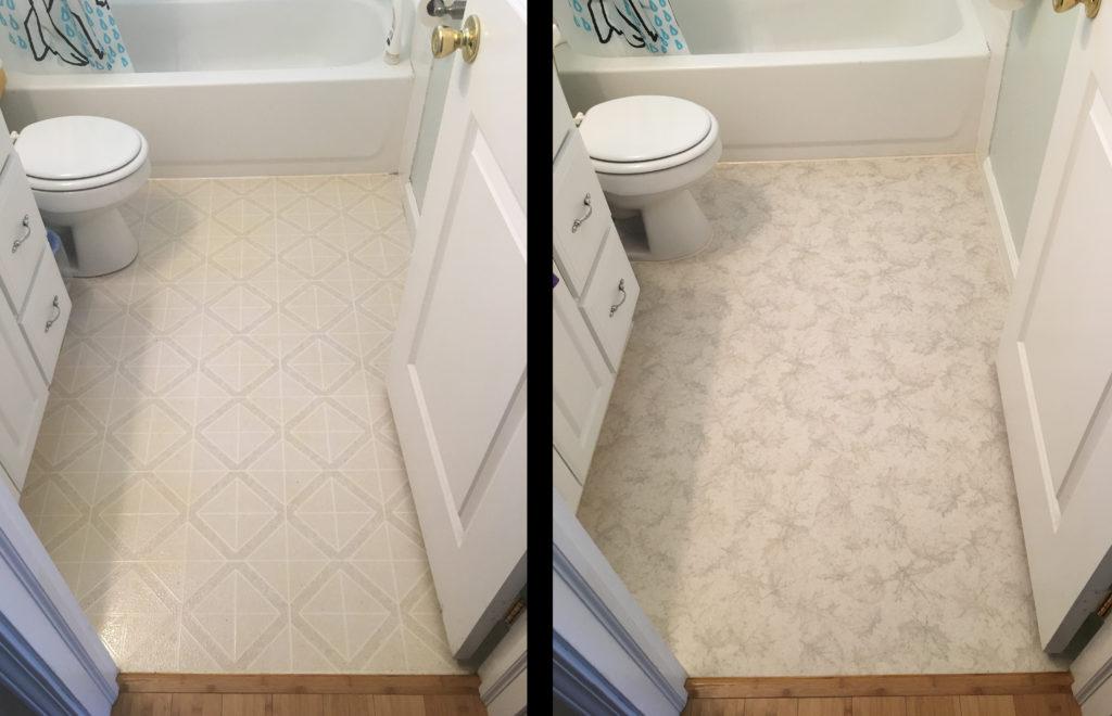 Bathroom Flooring Linoleum To Luxury Sheet Vinyl Dear Shari